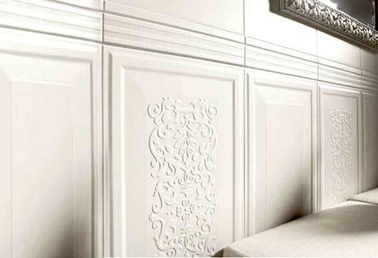 Boiserie in cartongesso per il rivestimento pareti for Pareti attrezzate moderne in cartongesso