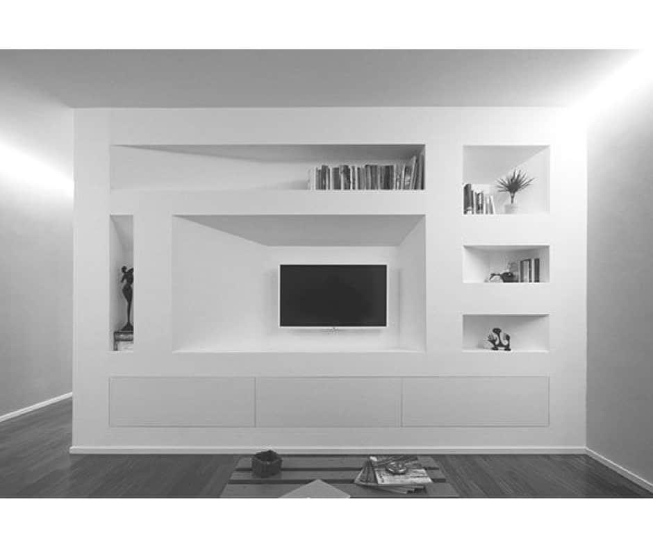 pareti attrezzate moderne in cartongesso per cucine